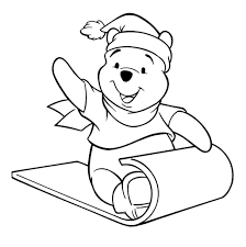 winnie the pooh christmas coloring pages coloring pages kids