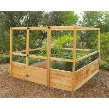 interesting garden box kit solid wooden raised vegetable bed
