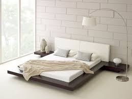 bedroom simple low bed design with nice table bedside low