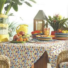 Tablecloth For Umbrella Patio Table by Fiesta Dash Microfiber Indoor Outdoor Polyester Fabric 70