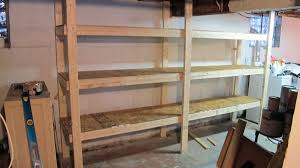 Build Wood Garage Shelves by Diy Basement Shelves In A Day Merrypad