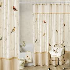 gilded bird embroidered shower curtain and hooks bird and fabrics