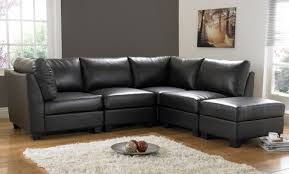 furniture gorgeous black leather sofa sets for any interior