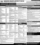 BZU Admission Announced - BZU Multan bzupages.net