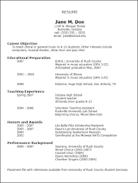 Curriculum Vitae Sample Internship VisualCV biology