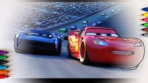 cars 3 lightning mcqueen u0026 jackson storm racing coloring