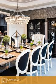 Crystal Chandeliers For Dining Room A Supremely Elegant Crystal Chandelier Hangs Above The Hamilton