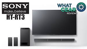 blu ray home theater system with wireless rear speakers sony ht rt3 soundbar with rear speakers youtube