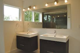 Bathroom Combined Vanity Units by Floating White Wooden Vanity With Storage And Black Counter Top
