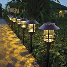 Landscaping Lights Led by 39 99 For 8 Costco Uk Trubright Solar Led Large Pathway Lights