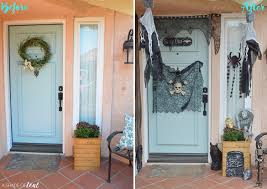 spooky halloween front door budget finds for under 1