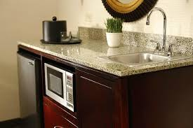 Wetbar Granite Topped Wet Bar Microwave Coffeemaker And Mini
