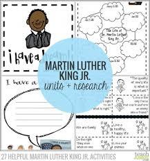Helpful Martin Luther King Jr  Activities   Teach Junkie Teach Junkie