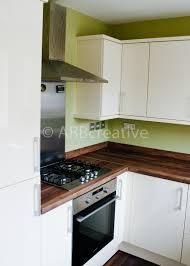 gloss white slab kitchen