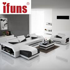 modern design sofa ifuns american modern design genuine leather l shaped corner sofa