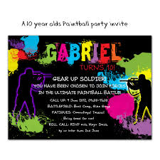 paintball party invitations u2013 gangcraft net