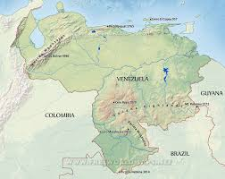South America River Map by Venezuela Physical Map