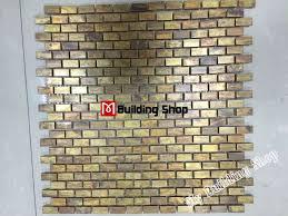 Metal Kitchen Backsplash Tiles Brick Metal Mosaic Kitchen Backsplash Tiles Smmt072 Antiqued