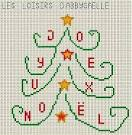GRILLE POINT DE CROIX - Noël - crochet