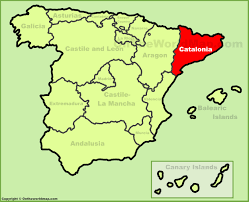 Spain Political Map by Spain Catalonia Parliament Approves