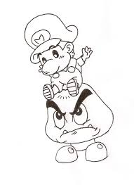 free printable mario coloring pages for kids within baby to print