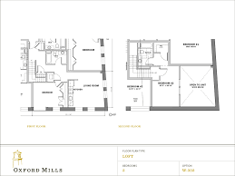 floor plans kitchen and living room area downstairs option a