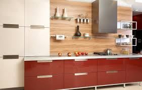kitchen modern two tone kitchen cabinets with floating shelves
