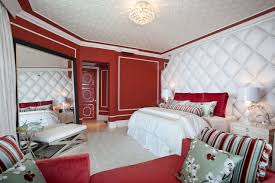 cool bedroom idea with white wall paint color and calm black with