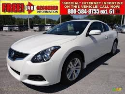 nissan altima coupe in snow 2011 nissan altima 2 5 s coupe in winter frost white photo 2