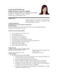 Sample Resume Objectives For Registered Nurse by Resume For Jobs Format Animator Sample Resumes Advanced Registered