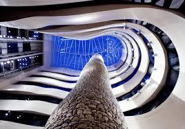 Atrio del Hotel Silken Gran Domine en Bilbao