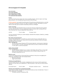 Combination Resume Format Chronological Resume Format 2016 Chronological Resume Sample