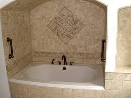 bathroom tub tile ideas modern bronze towel bar wall mounted door