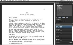Movie Shot List Template Fade In Features