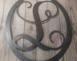 Precious Large Metal Letters For Wall Decor Metal Wreath Etsy