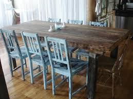 Chairs For Kitchen Table by Rustic Kitchen Table Gray Fabric Chairs On Rug Furniture Stylish