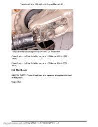 yamaha yz wr 400 426 450f cyclepedia printed motorcycle service