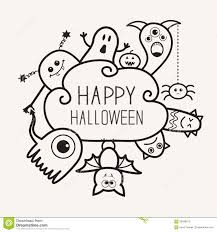 halloween ghost clipart black and white happy halloween countour outline doodle ghost bat pumpkin