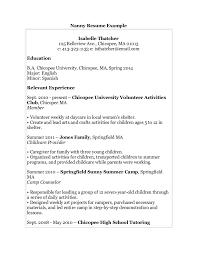 Sample Babysitter Resume by Sample Resume Babysitter Nanny Nanny Resume Sample Writing Guide