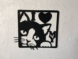 halloween wall art cat metal wall art shenra com