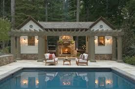 Small Modern Houses by Backyard Pool House Designs Backyard Landscape Design