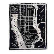 Street Map Of New York City by City Map Throw Merino Wool Blanket Uncommongoods