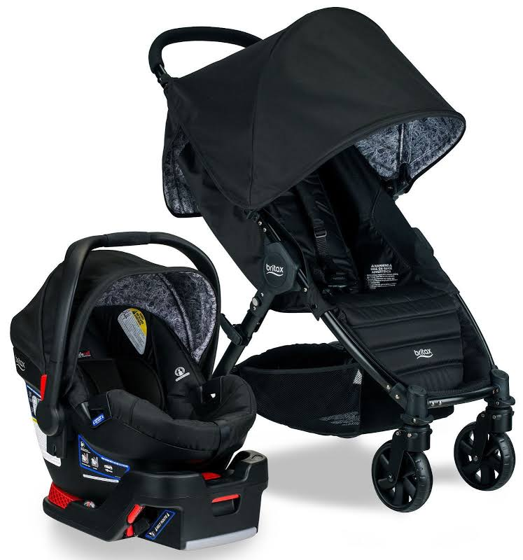 Britax Pathway And B-safe 35 Travel System Stroller And Baby Car Seat, Black