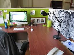 cubicle decoration office ideas green stylish cubicle
