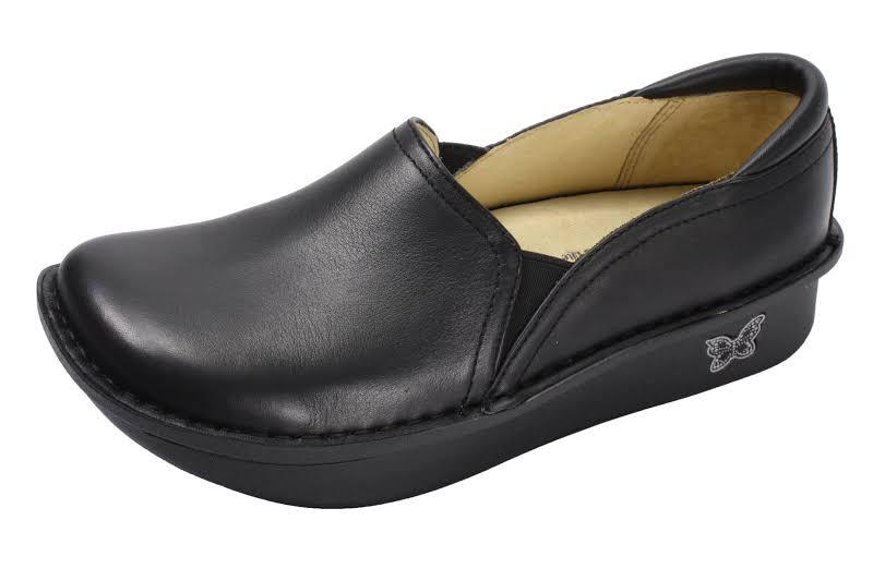 Alegria Debra Slip On Shoe 5-5.5 W in Black Nappa