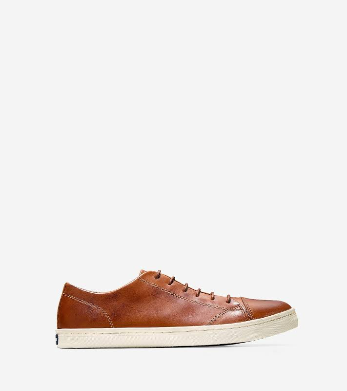 Cole Haan Trafton Luxe Cap Toe Oxford Ii British Tan Handstain Ankle-High Leather 9M
