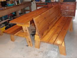 Plans To Build A Picnic Table Bench by Ana White Convertible Picnic Benches Diy Projects