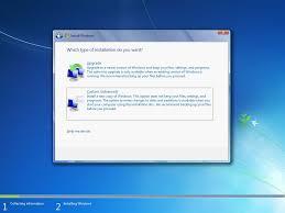 how to perform a custom installation of windows microsoft community