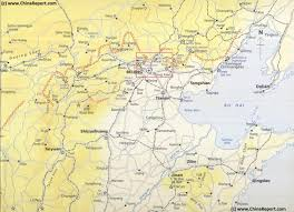 Map Of China Provinces Map Schematic Hebei Beijing Tianjin Great Wall Of China Locations