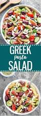 Pasta Salad Ingredients Easy Greek Pasta Salad As Easy As Apple Pie